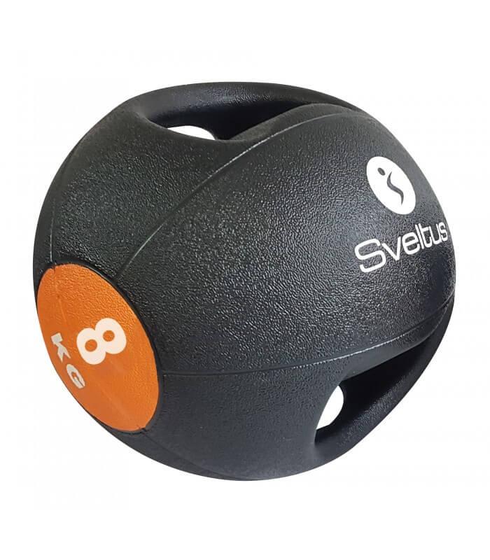 Médecine ball avec poignées 8 kg