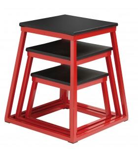 Set of 3 plyobox red