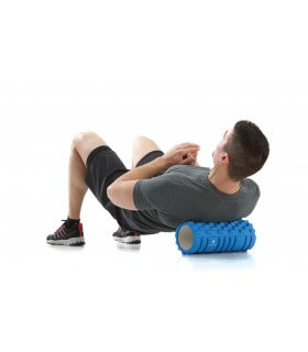 Foam Roller with grid - Blue
