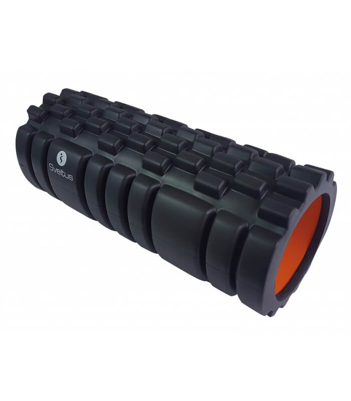 Foam roller with grid black