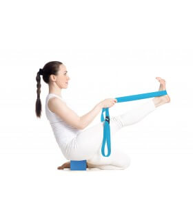 Sangle de yoga bleu fourreau