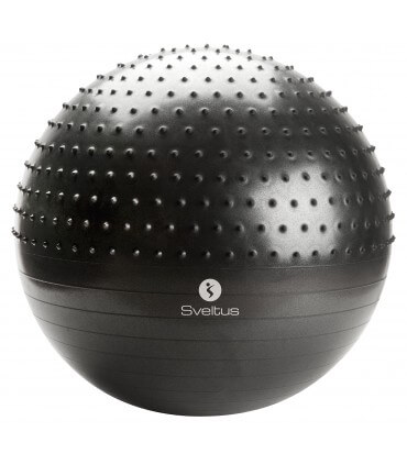 Gymball with spikes grey Ø65 cm box