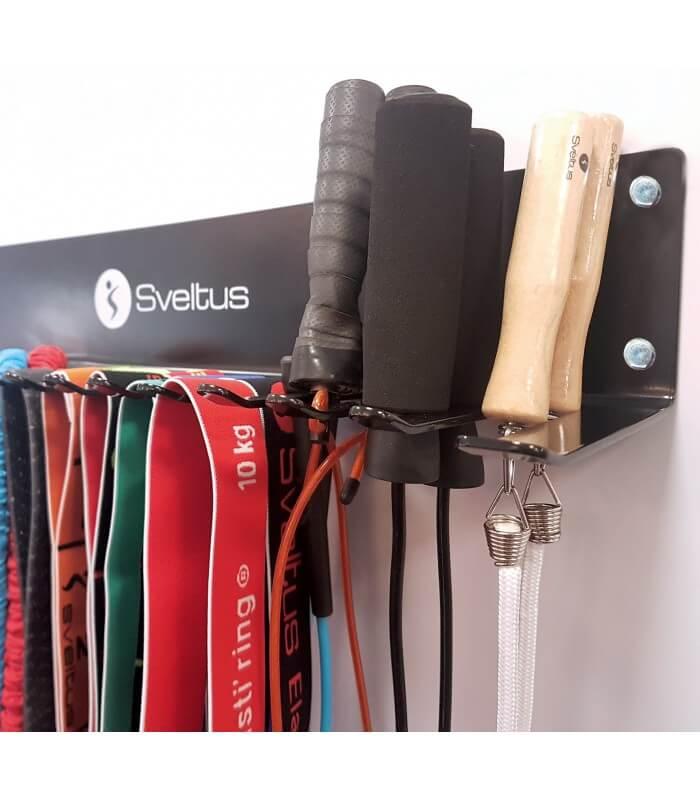 Rack mural cordes et élastiques