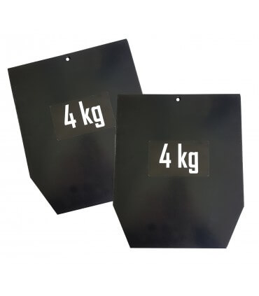 Steel plate for weighted vest PRO 4 kg x2