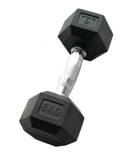 Hexagonal dumbbell 6 kg x1
