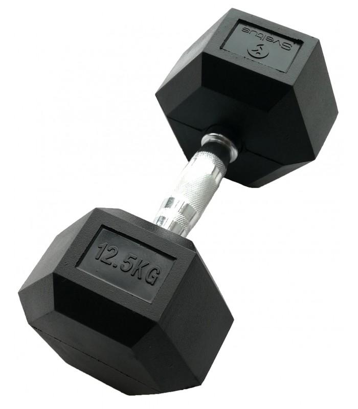 Zeshoekige halter 12,5 kg x1