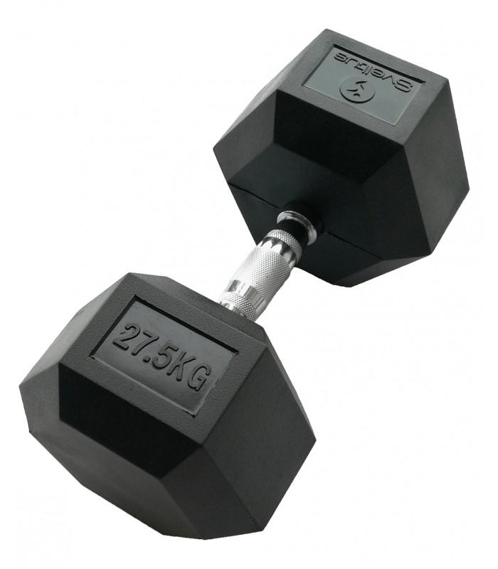 Zeshoekige halter 27,5 kg x1