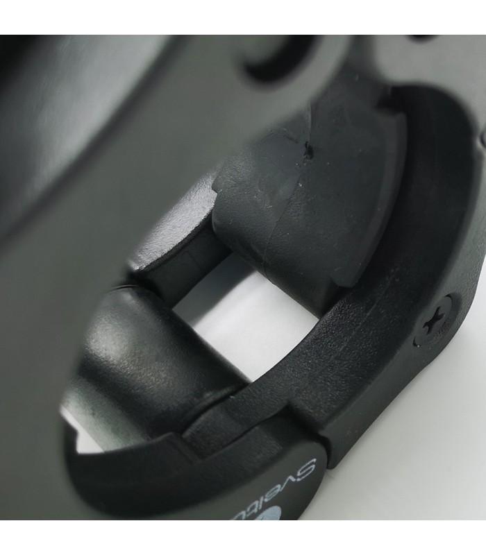 Stop disc olympic bar black x2