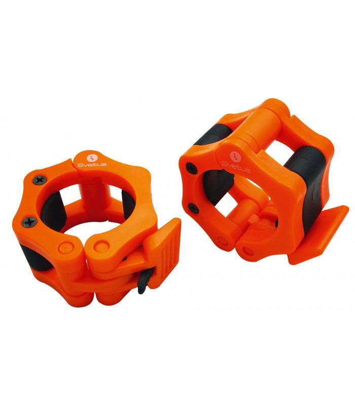 Stop disc olympic bar orange x2