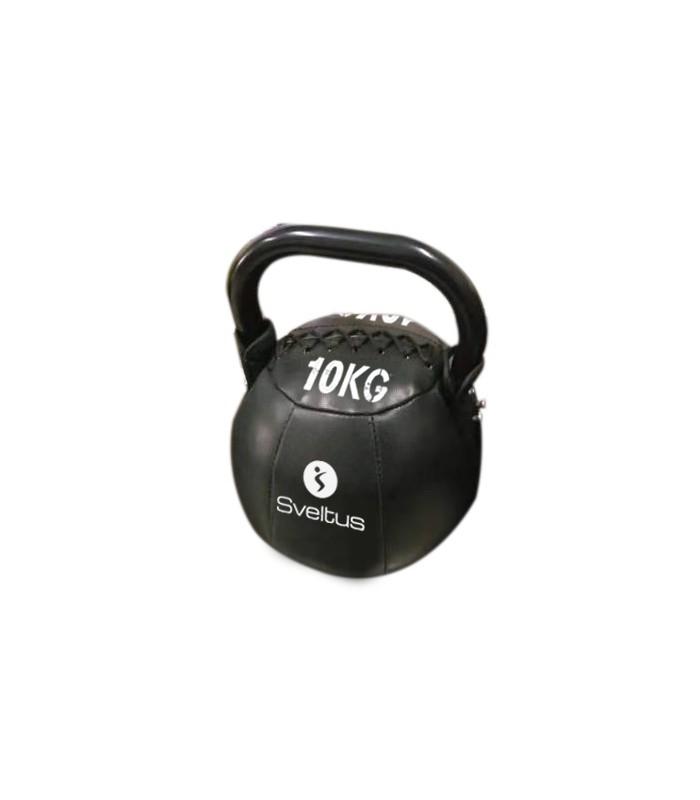 Soft kettlebell PU black 10 kg