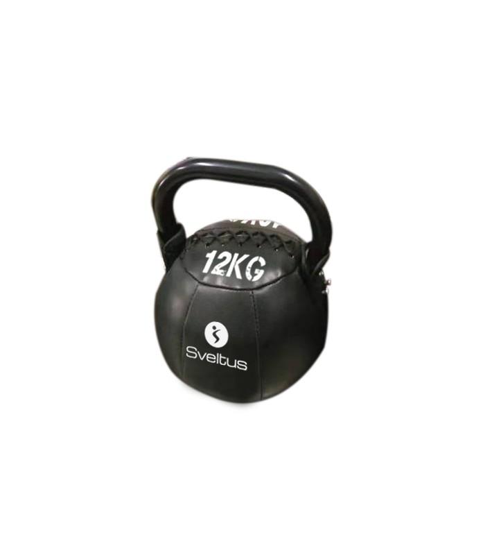 Soft kettlebell PU black 12 kg